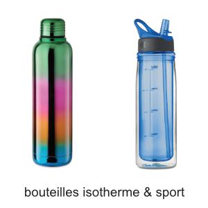 bouteilles et gourdes isotherme pour le bureau et lesport